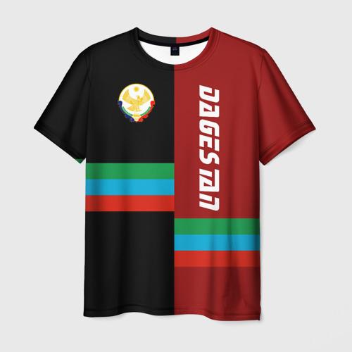 Мужская 3D футболка с принтом Dagestan, вид спереди #2