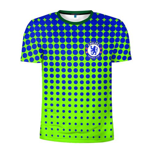 Мужская футболка 3D спортивная с принтом Chelsea, вид спереди #2