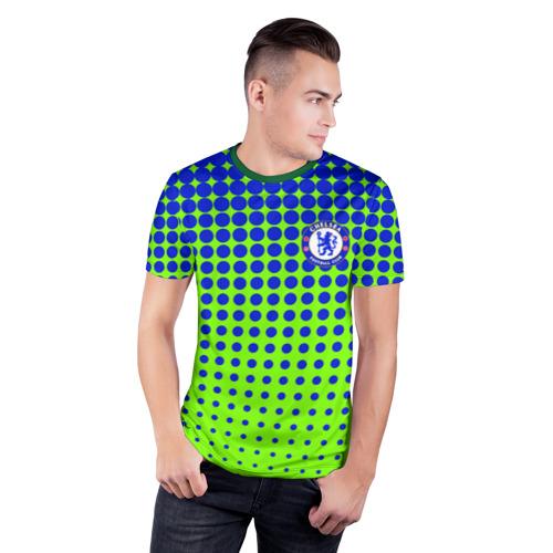Мужская футболка 3D спортивная с принтом Chelsea, фото на моделе #1