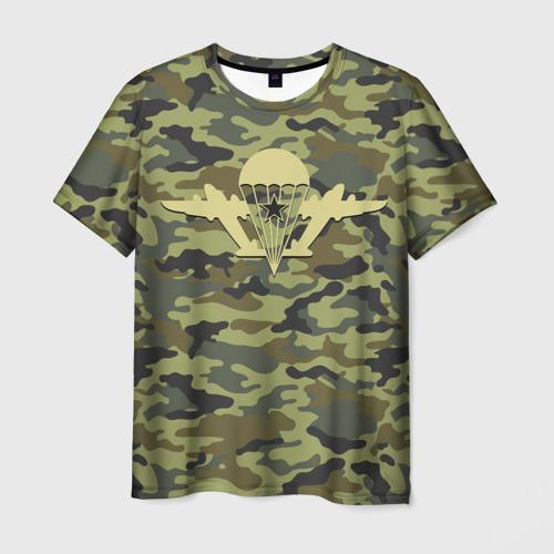 Мужская 3D футболка с принтом ВДВ Никто кроме нас, вид спереди #2