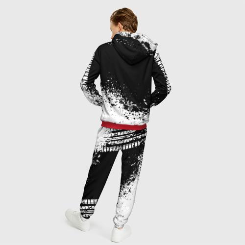Мужской 3D костюм с принтом Mazda abstract sport, вид сзади #2