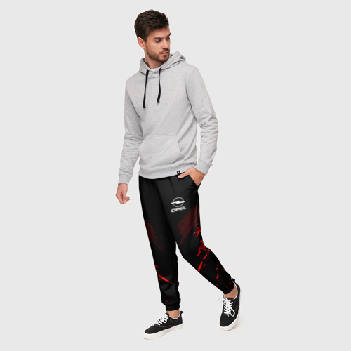 Мужские брюки 3D с принтом Opel SPORT, фото на моделе #1