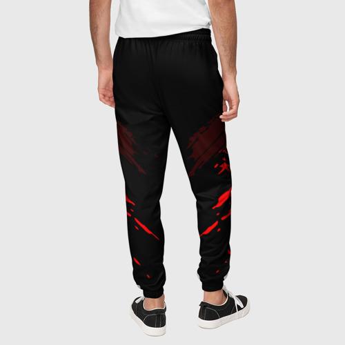Мужские брюки 3D с принтом Opel SPORT, вид сзади #2