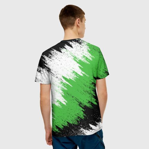 Мужская 3D футболка с принтом Skoda, вид сзади #2