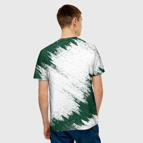 Мужская 3D футболка с принтом LAND ROVER, вид сзади #2