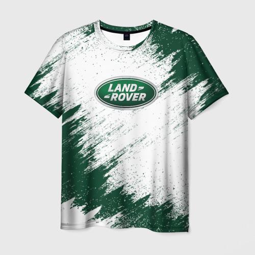 Мужская 3D футболка с принтом LAND ROVER, вид спереди #2