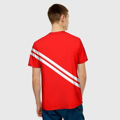 Мужская 3D футболка с принтом Кто мы? Мясо!, вид сзади #2