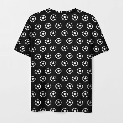 Мужская 3D футболка с принтом Футбольная мода, вид сзади #1