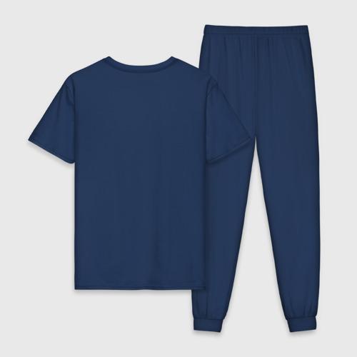 Мужская пижама хлопок с принтом Volkswagen, вид сзади #1