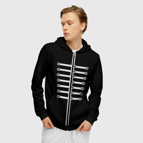 Толстовка на молнии с принтом My Chemical Romance, фото на моделе #1