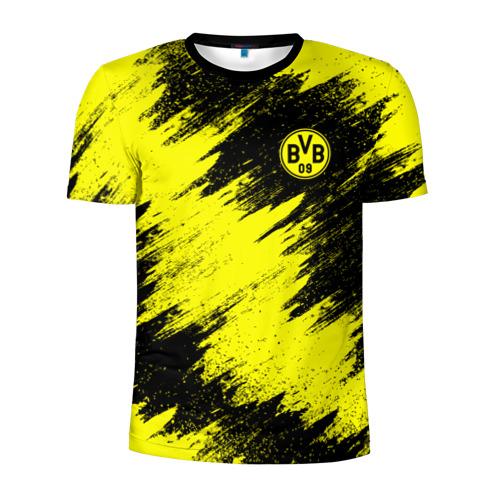 Мужская футболка 3D спортивная с принтом FC Borussia Dortmund, вид спереди #2
