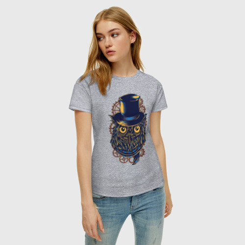 Женская футболка с принтом Сова, фото на моделе #1