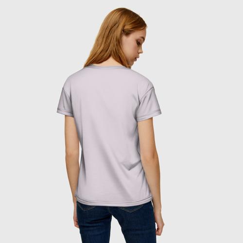 Женская 3D футболка с принтом Darling heart, вид сзади #2