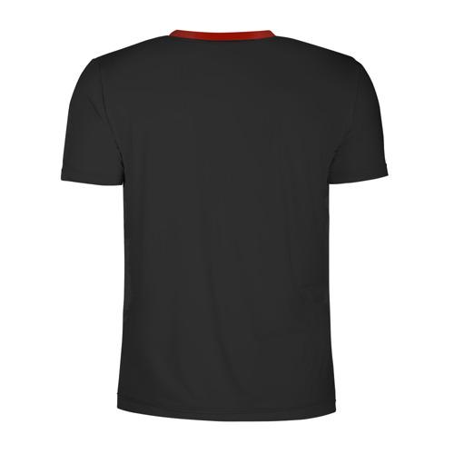 Мужская футболка 3D спортивная с принтом Рожден в СССР, вид сзади #1