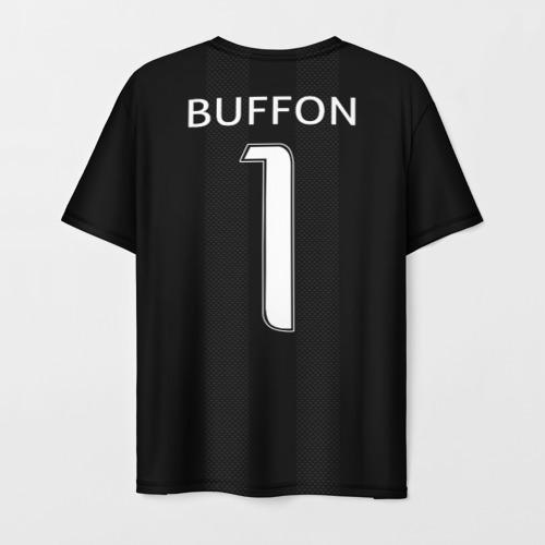 Мужская 3D футболка с принтом Буффон ЛЧ 2018, вид сзади #1
