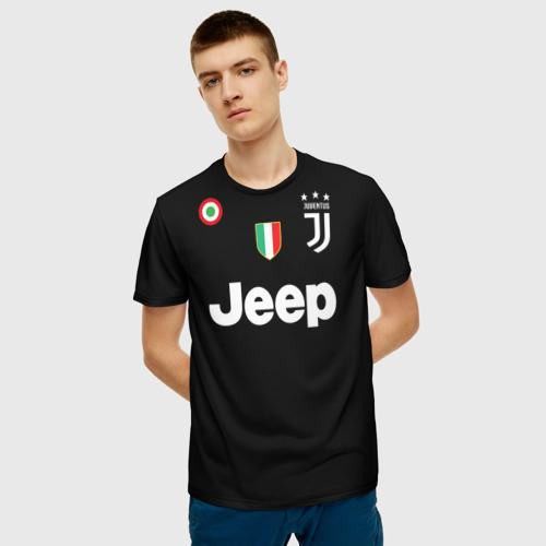 Мужская 3D футболка с принтом Буффон ЛЧ 2018, фото на моделе #1