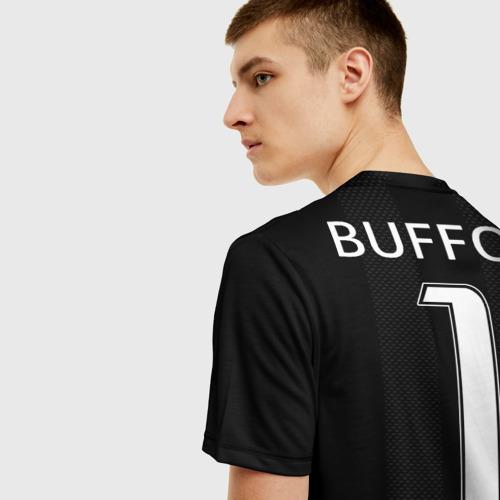 Мужская 3D футболка с принтом Буффон ЛЧ 2018, вид сзади #2