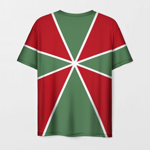 Мужская 3D футболка с принтом 100 лет пограничных войск, вид сзади #1