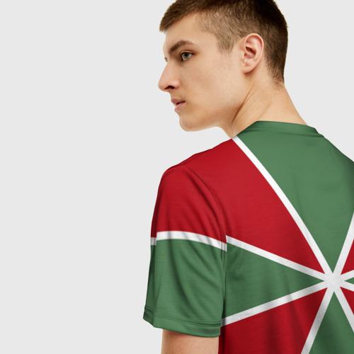 Мужская 3D футболка с принтом 100 лет пограничных войск, вид сзади #2