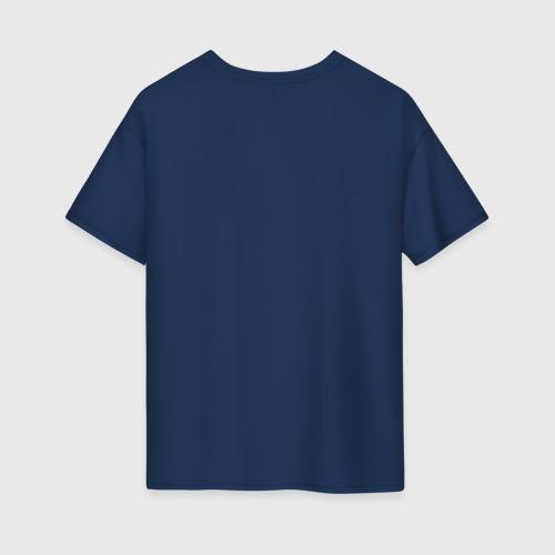 Женская футболка oversize с принтом Space cowboy, вид сзади #1
