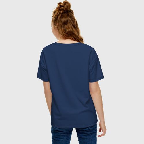 Женская футболка oversize с принтом Space cowboy, вид сзади #2