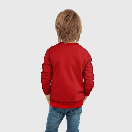 Детский 3D свитшот с принтом Red machine (Красная машина), вид сзади #2