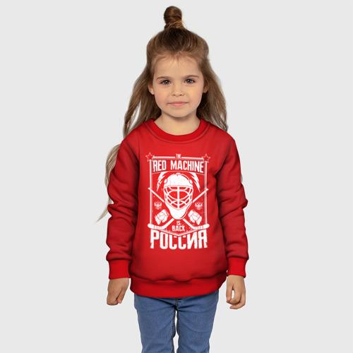 Детский 3D свитшот с принтом Red machine (Красная машина), фото #4