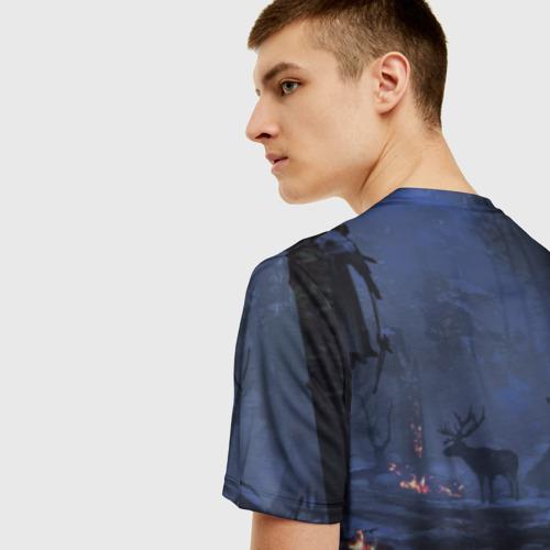 Мужская 3D футболка с принтом Кратос, вид сзади #2