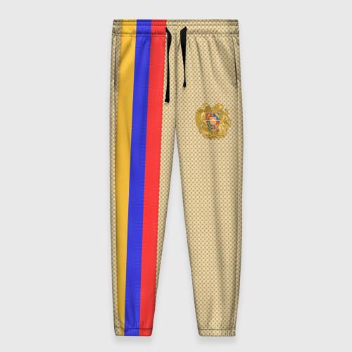 Женские брюки 3D с принтом Armenia, вид спереди #2