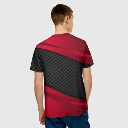 Мужская 3D футболка с принтом MAZDA SPORT, вид сзади #2