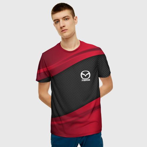 Мужская 3D футболка с принтом MAZDA SPORT, фото на моделе #1