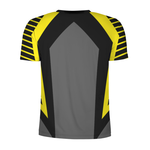 Мужская футболка 3D спортивная с принтом Volleyball, вид сзади #1