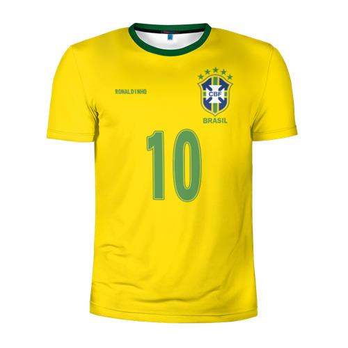 Мужская футболка 3D спортивная Роналдиньо