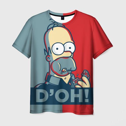 Мужская 3D футболка Homer Simpson (D'OH!)