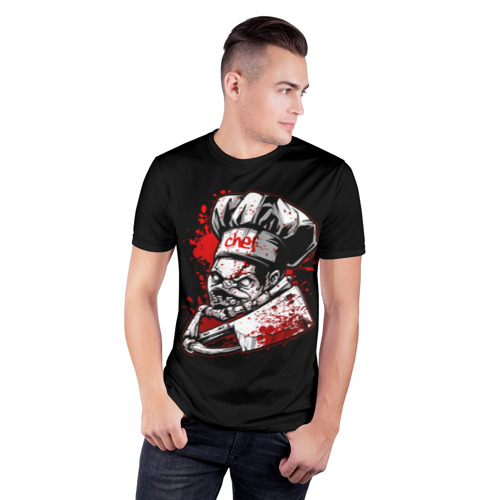 Мужская футболка 3D спортивная с принтом Pudge, фото на моделе #1