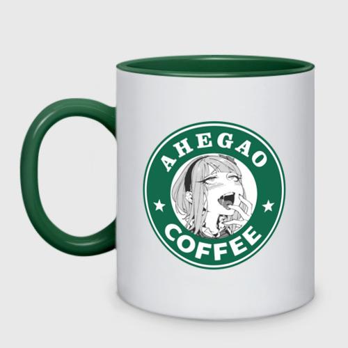 Кружка двухцветная Ахегао кофе