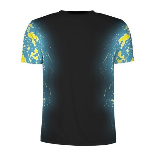 Мужская футболка 3D спортивная с принтом CYBERPUNK 2077   КИБЕРПАНК 2077, вид сзади #1