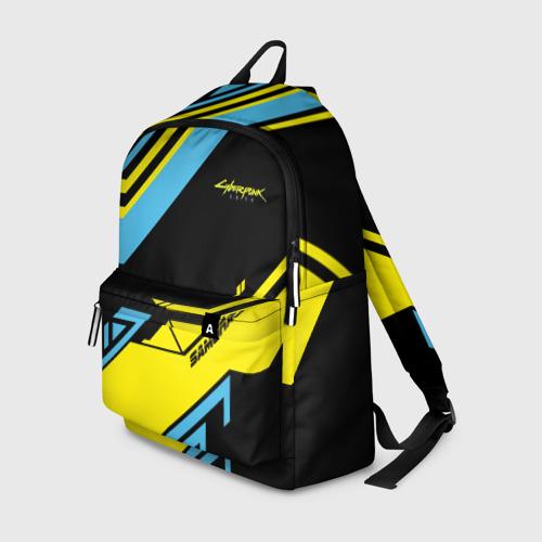 Рюкзак 3D с принтом CYBERPUNK 2077 SAMURAI | САМУРАЙ, вид спереди #2