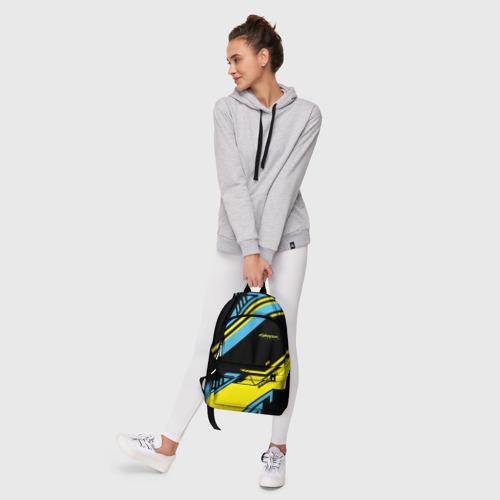 Рюкзак 3D с принтом CYBERPUNK 2077 SAMURAI | САМУРАЙ, фото #6