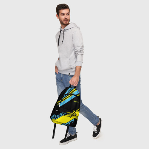 Рюкзак 3D с принтом CYBERPUNK 2077 SAMURAI | САМУРАЙ, фото #5