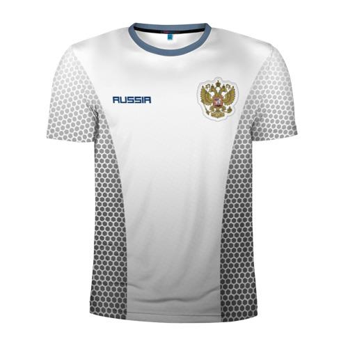 Мужская футболка 3D спортивная Сборная России форма с сеткой