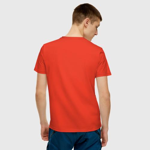 Мужская футболка с принтом Chess, вид сзади #2