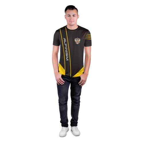 Мужская футболка 3D спортивная с принтом Alpinism, вид сбоку #3