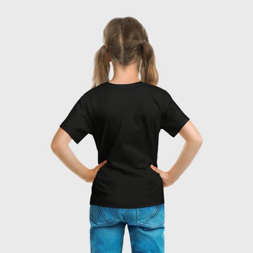 Детская 3D футболка с принтом Fortnite Королевская Битва, вид сзади #2