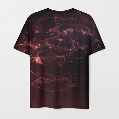 Мужская 3D футболка с принтом АТАКА ТИТАНОВ Полигоны, вид сзади #1