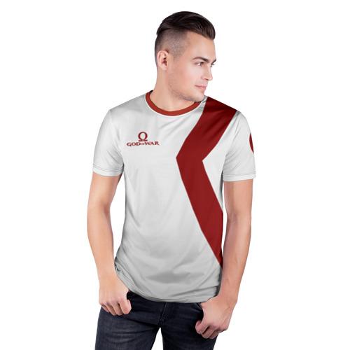 Мужская футболка 3D спортивная с принтом GOD of WAR Татуировки Кратоса, фото на моделе #1