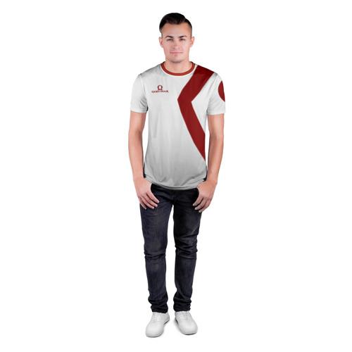 Мужская футболка 3D спортивная с принтом GOD of WAR Татуировки Кратоса, вид сбоку #3