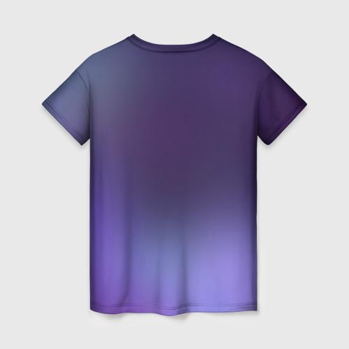 Женская 3D футболка с принтом Киса, вид сзади #1
