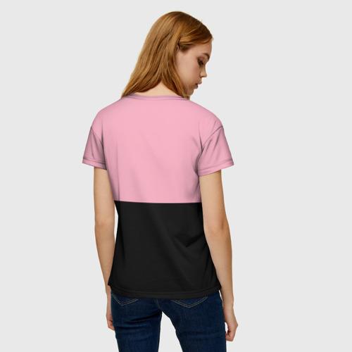 Женская 3D футболка с принтом BLACKPINK, вид сзади #2
