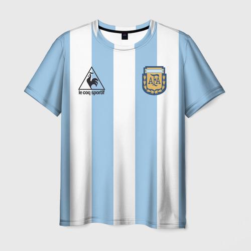Мужская 3D футболка Марадона Аргентина ретро